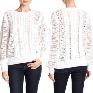 NWT 360 Sweater Porter White Open Knit Sweater XS